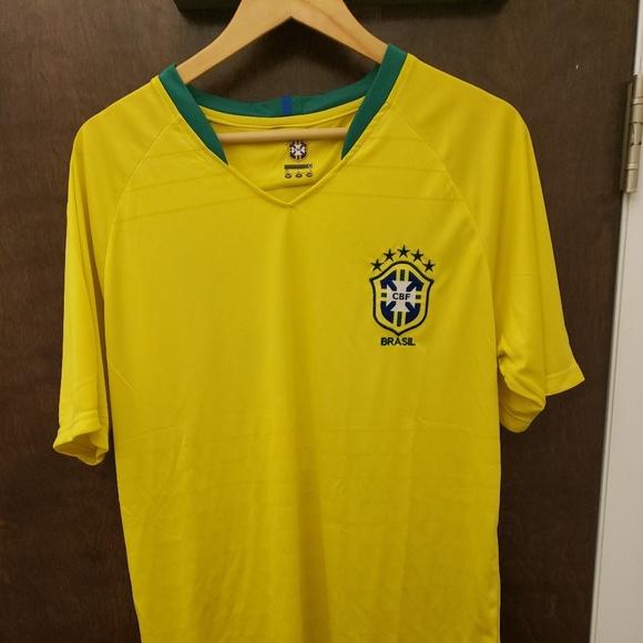 online store 48ff2 39afe CBF AUTHENTIC NEYMAR JR #10 YELLOW BRAZIL JERSEY